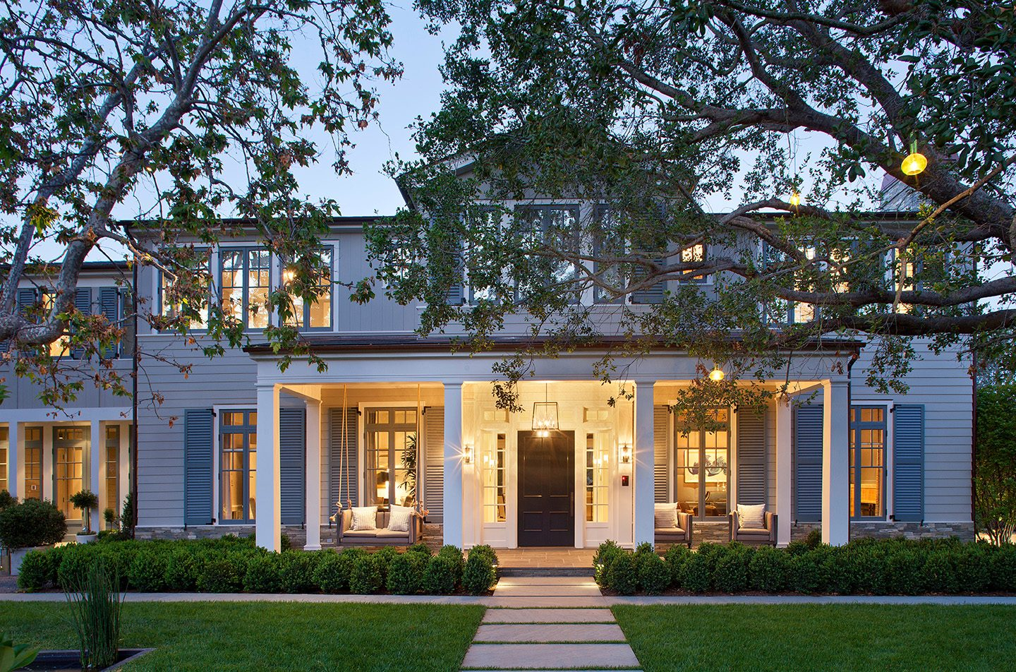 An Adam Hunter designed home in California with ambient lighting.