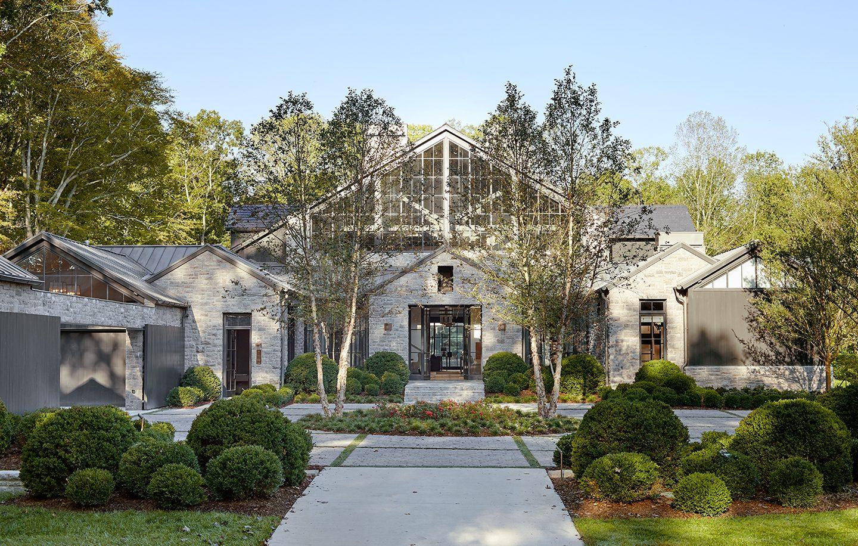 Adam Hunter designed Nasvhille home with brick and wood.